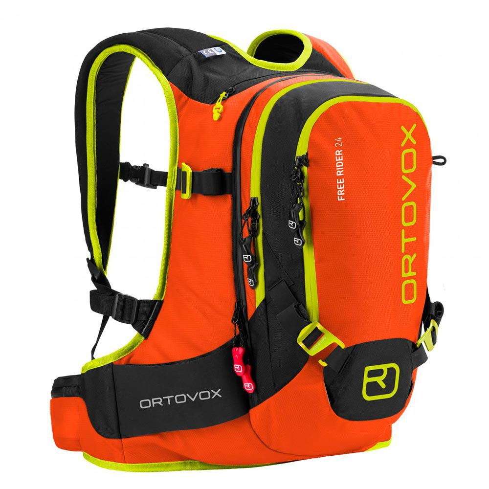 Batoh na snowboard Ortovox Free Rider 24 crazy orange