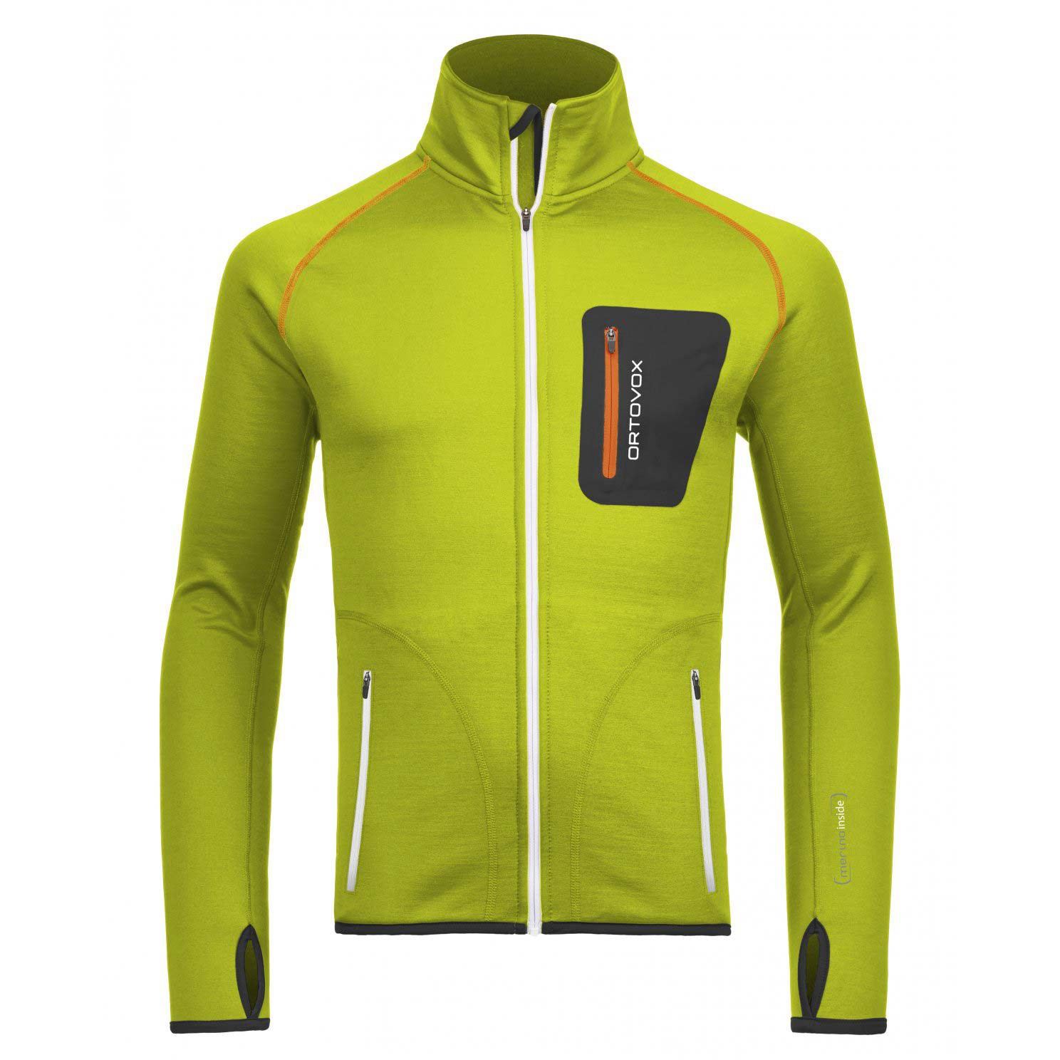 Ortovox Merino Fleece Jacket Happy Green Snowboard Zezula