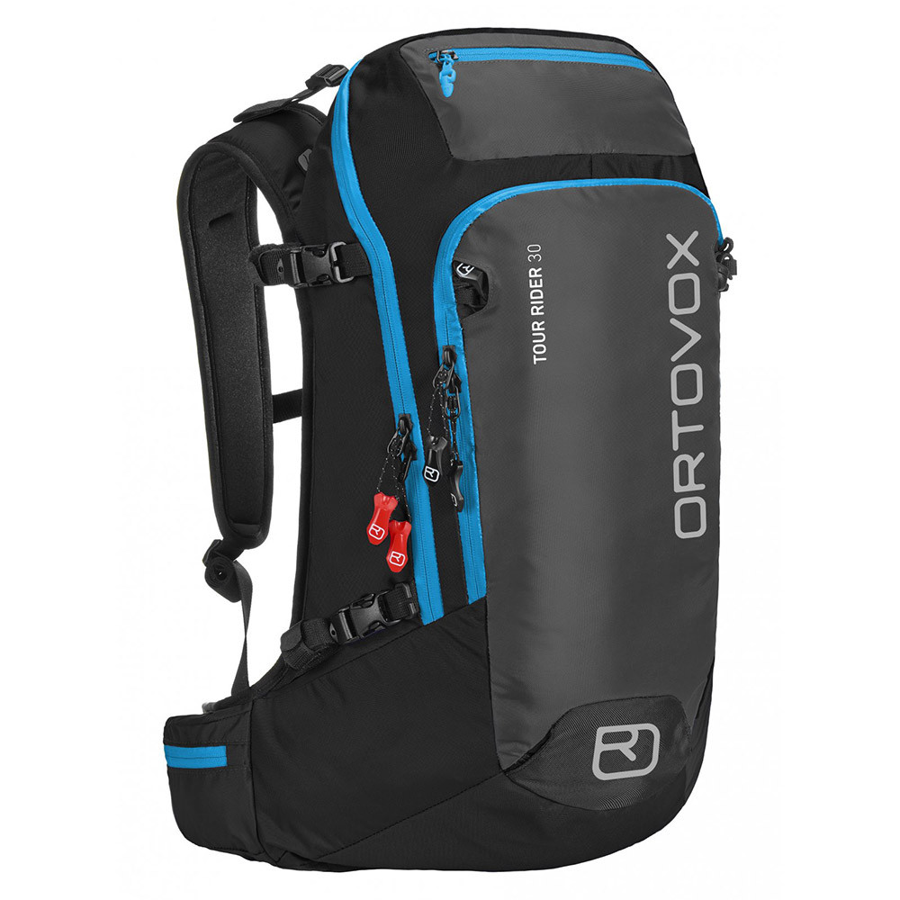 Ortovox Ski Backpack: Snowboard Backpack Ortovox Tour Rider 30 Black Anthracite