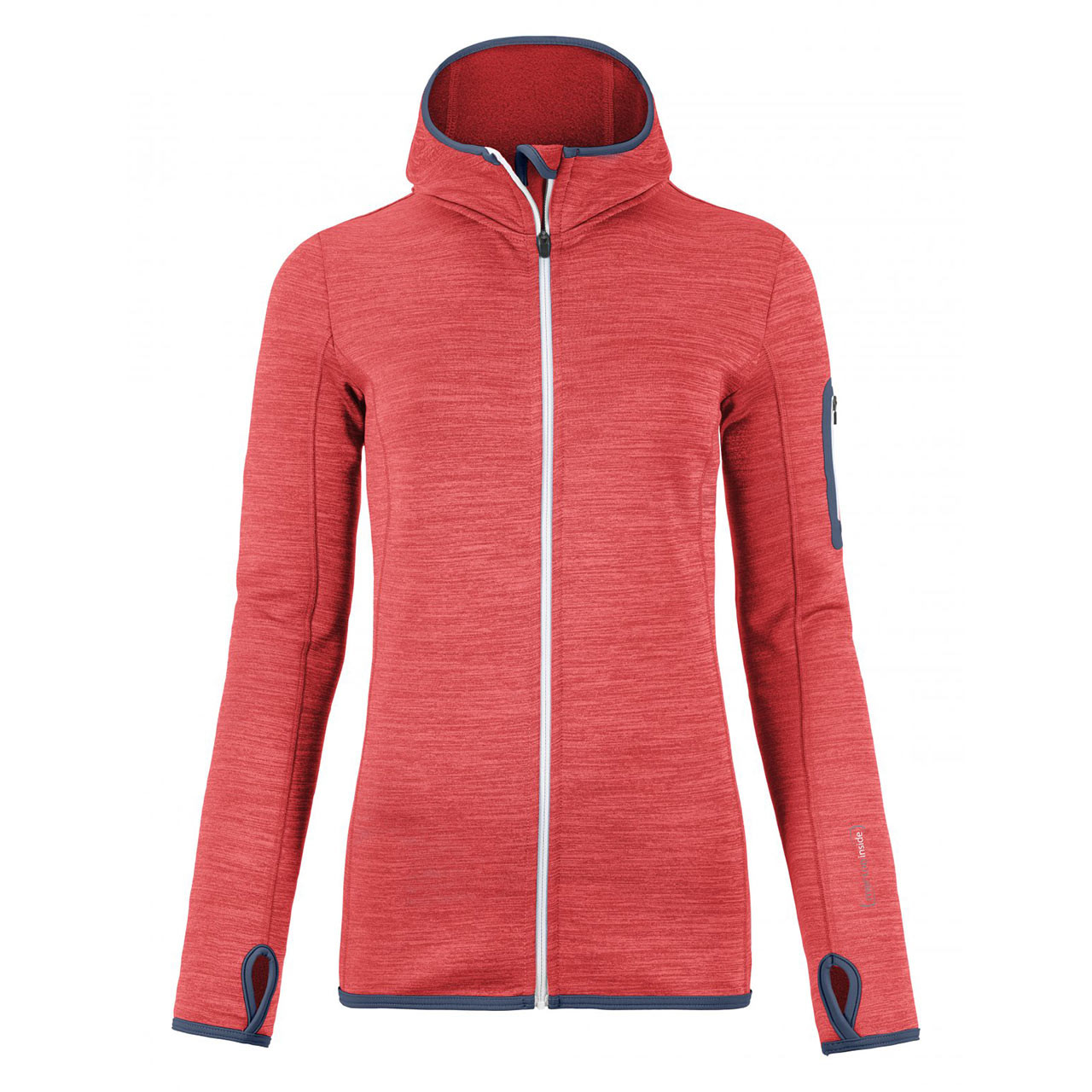 Ortovox Wms Fleece Melange Hoody hot coral blend