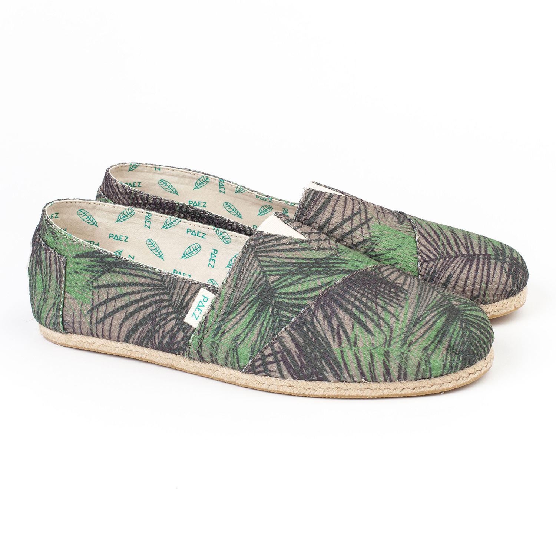 Slip-on Paez Original Raw Print W safari palms cw a-mesh