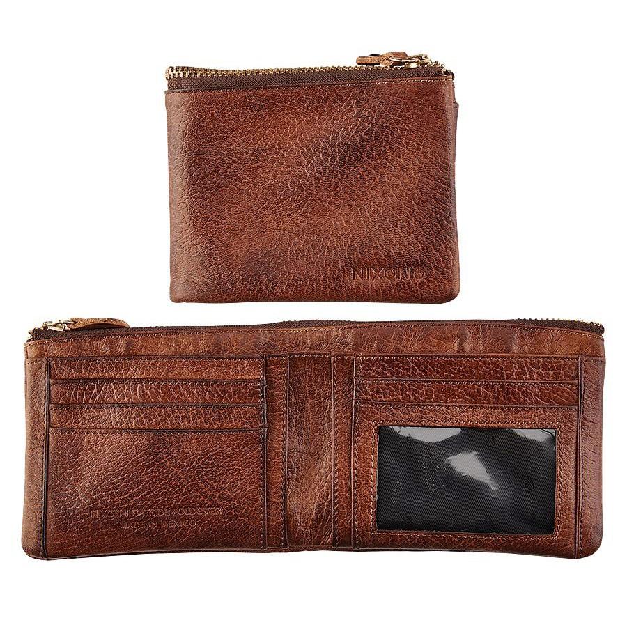 Peněženka Nixon Bayside Foldover Bi-Fold brown