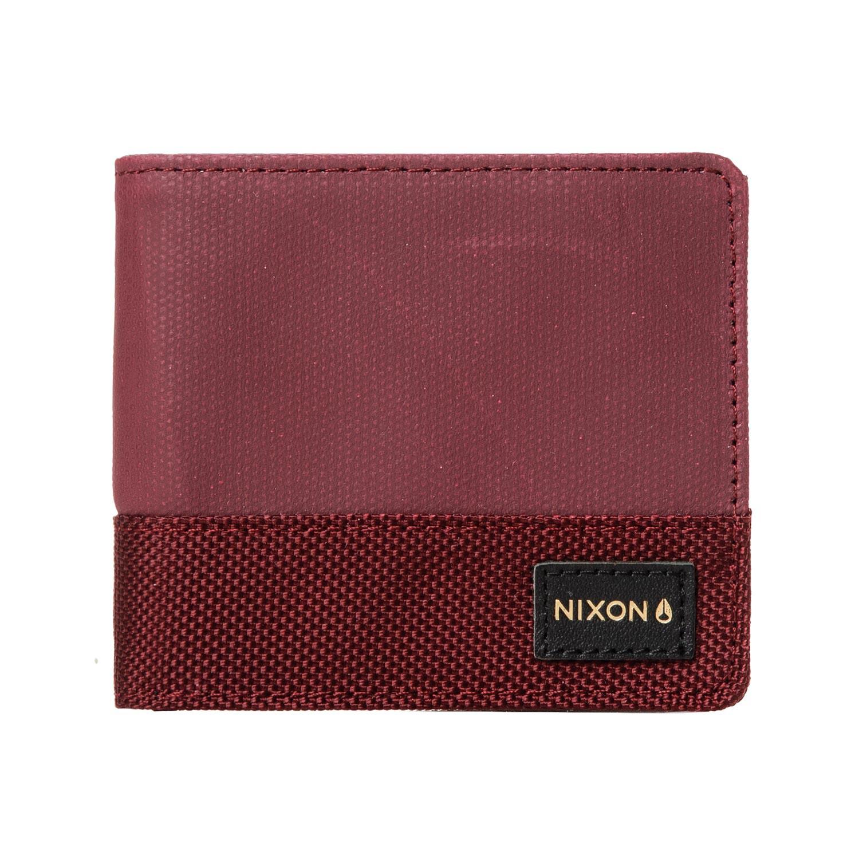 Peněženka Nixon Origami Bi-Fold Zip burgundy