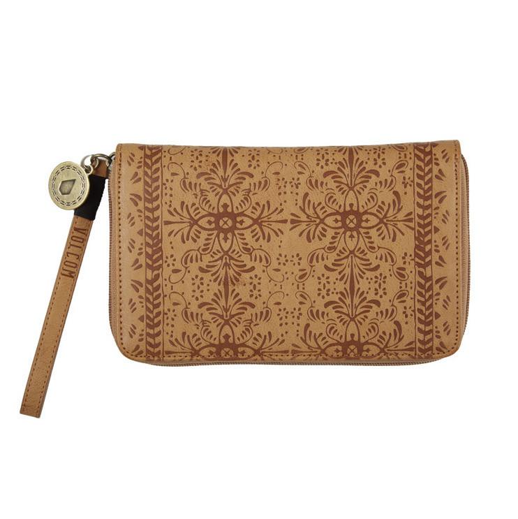 Peněženka Volcom Dezert Mist Zip vintage brown