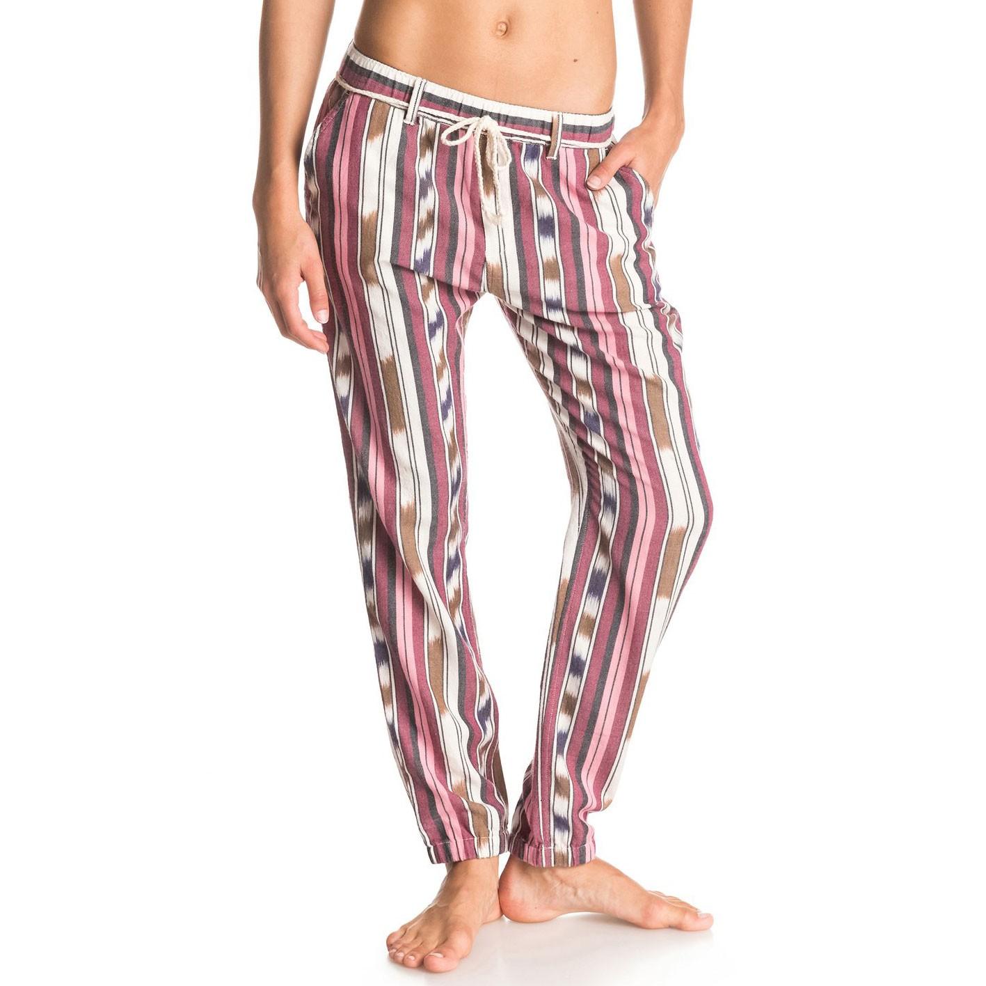 Kalhoty Roxy Beachy Beach Chambray ikat stripe vel.L 15 + doručení do 24 hodin