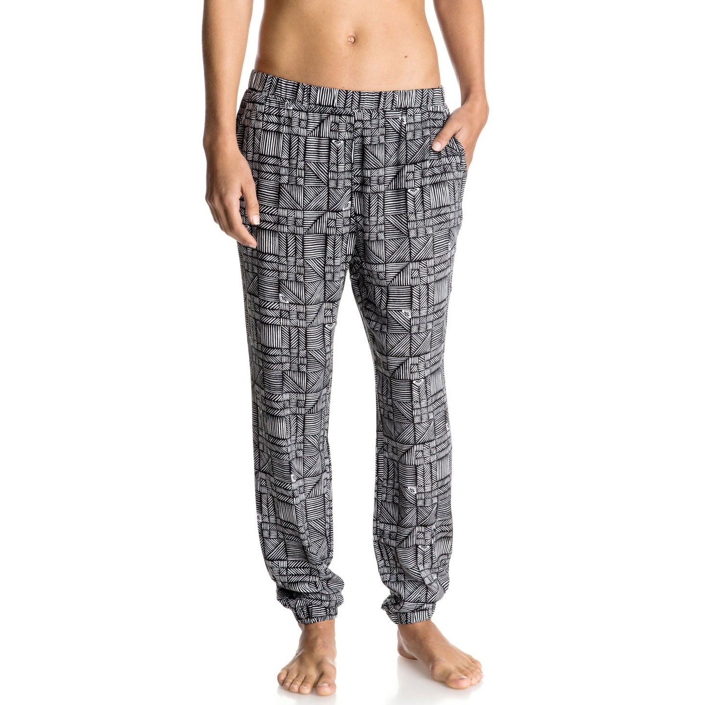 Kalhoty Roxy Easy Peasy Pant anthracite beachouse geo