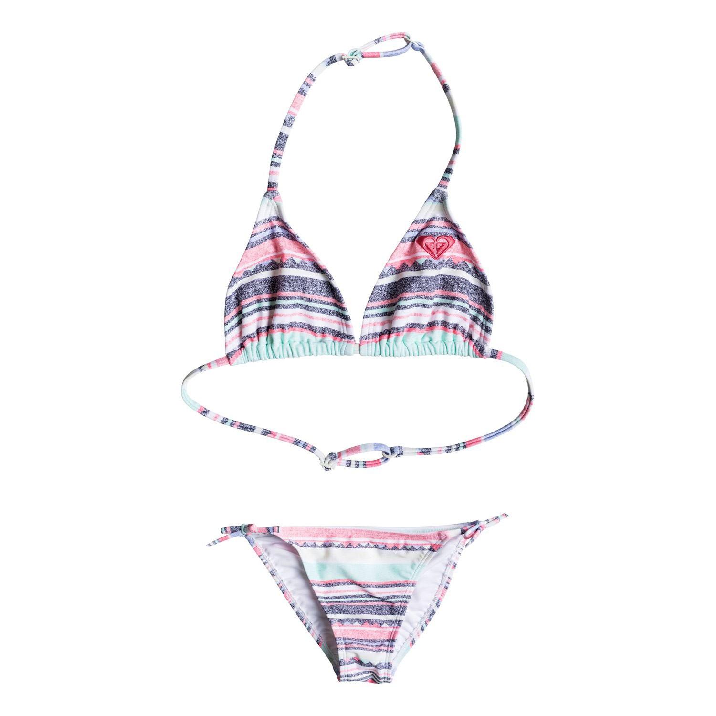 Bikiny Roxy Little Indy Tri Set beach glass sombrero stripe