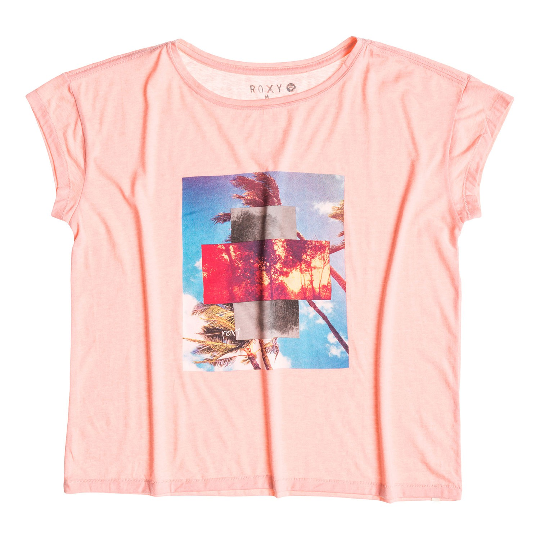Tričko Roxy New Crew B bloom pink