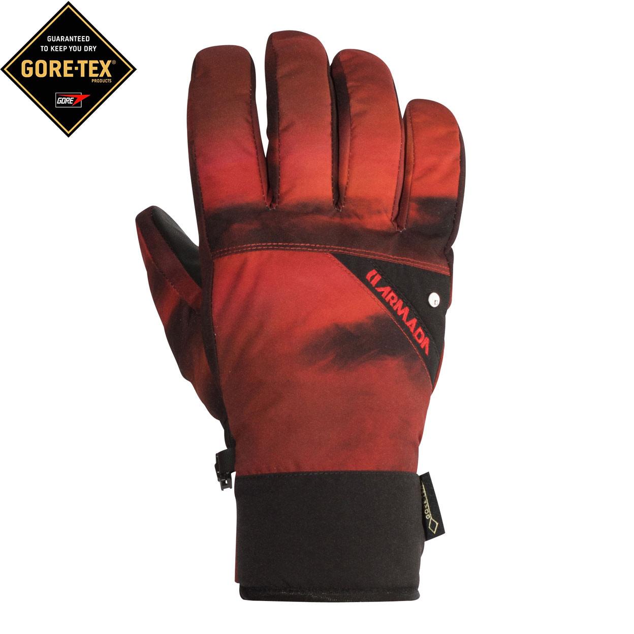 Rukavice Armada Decker Gore-Tex red resin