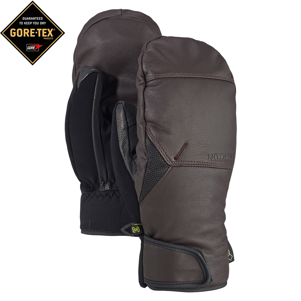 Rukavice Burton Gondy Gore Leather Mitt mocha