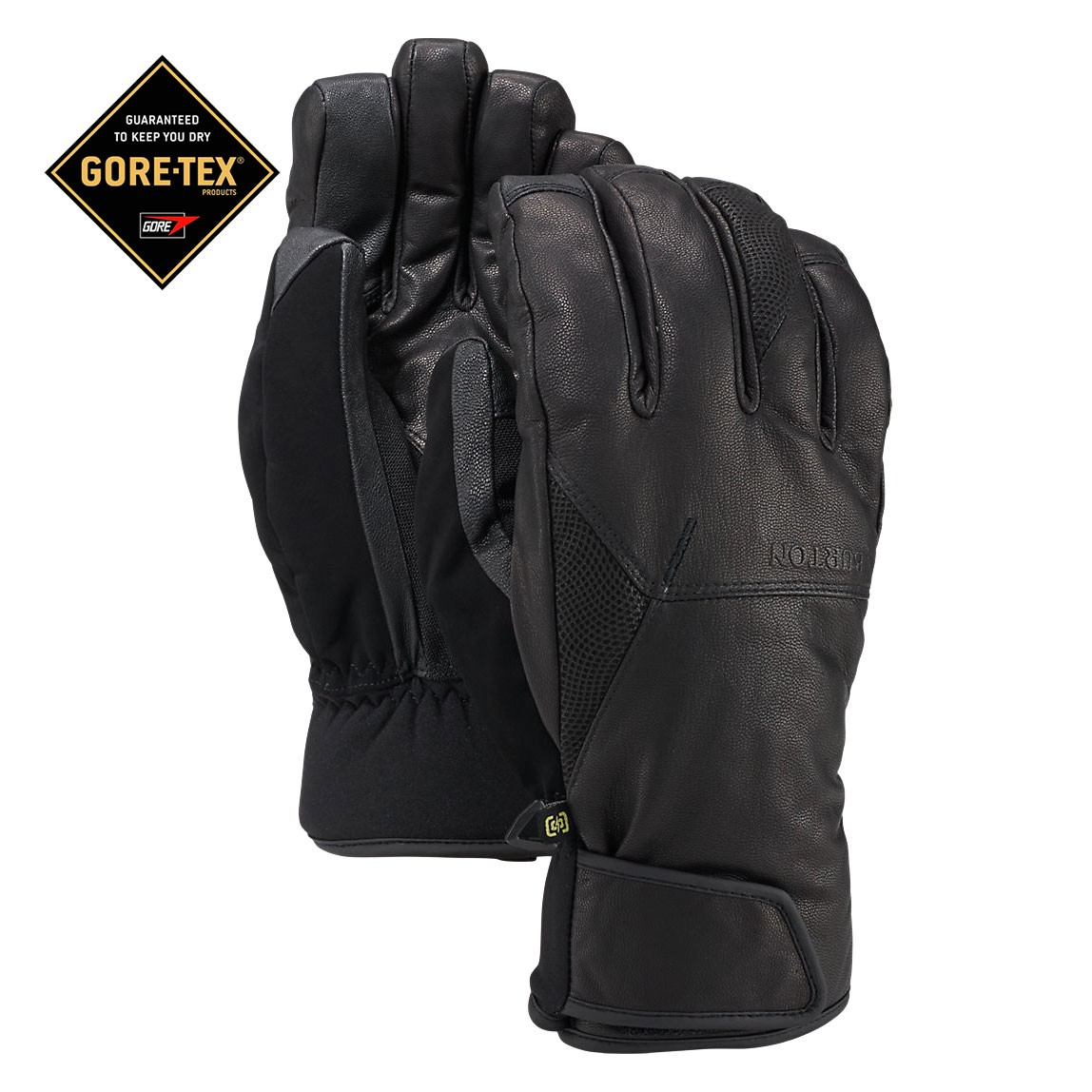 Rukavice Burton Gondy Gore Leather Mitt true black vel.M 16/17 + doručení do 24 hodin