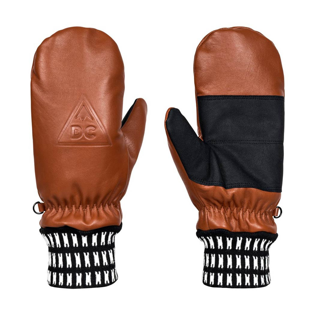 Rukavice DC Supply Mitt leather brown