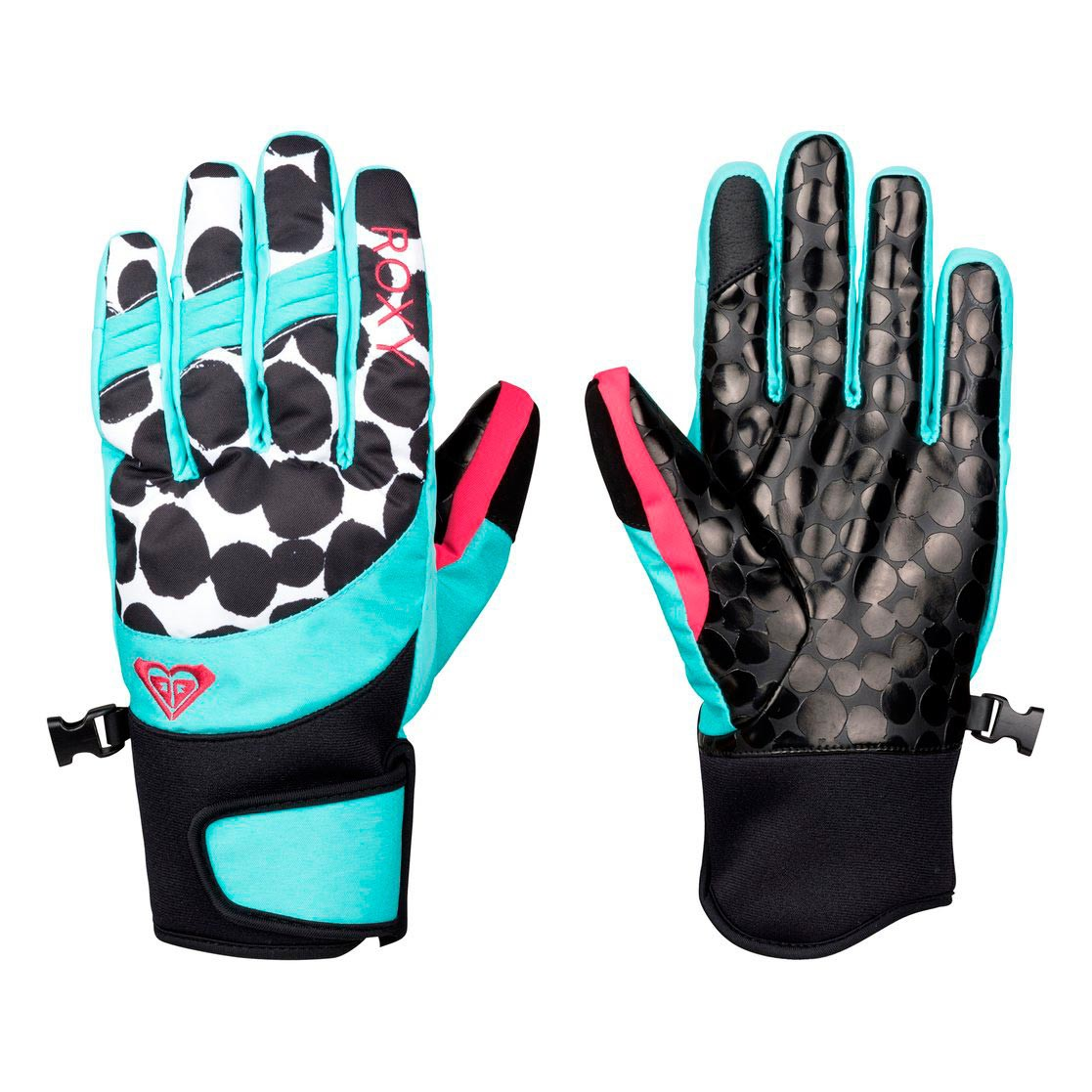 Rukavice Roxy High Five irregular dots true black vel.M 16/17 + doručení do 24 hodin
