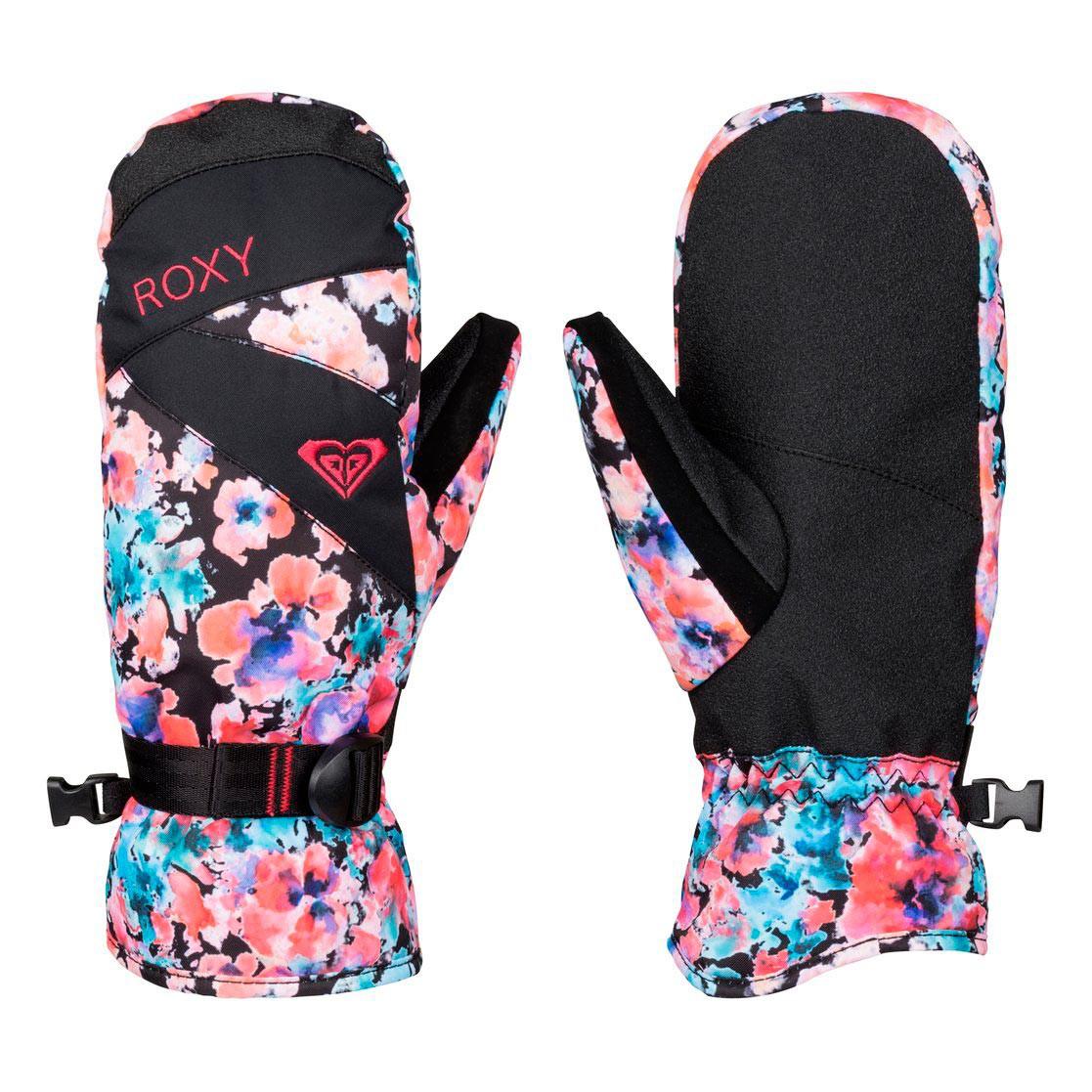 Rukavice Roxy Roxy Jetty Mitt madison flowers true black vel.S 16/17 + doručení do 24 hodin