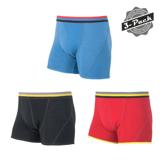 Triko Sensor Merino Wool Active černá/červená/modrá