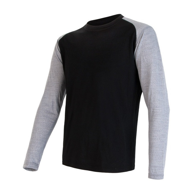 Triko Sensor Merino Wool Performance Logo černá/šedá