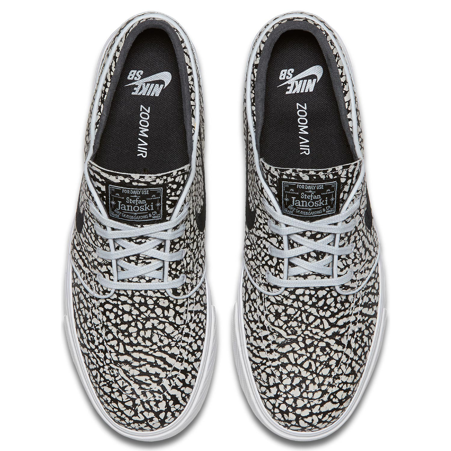 aae69088364 Nike SB Air Zoom Stefan Janoski Elite pure platinum black-wht ...