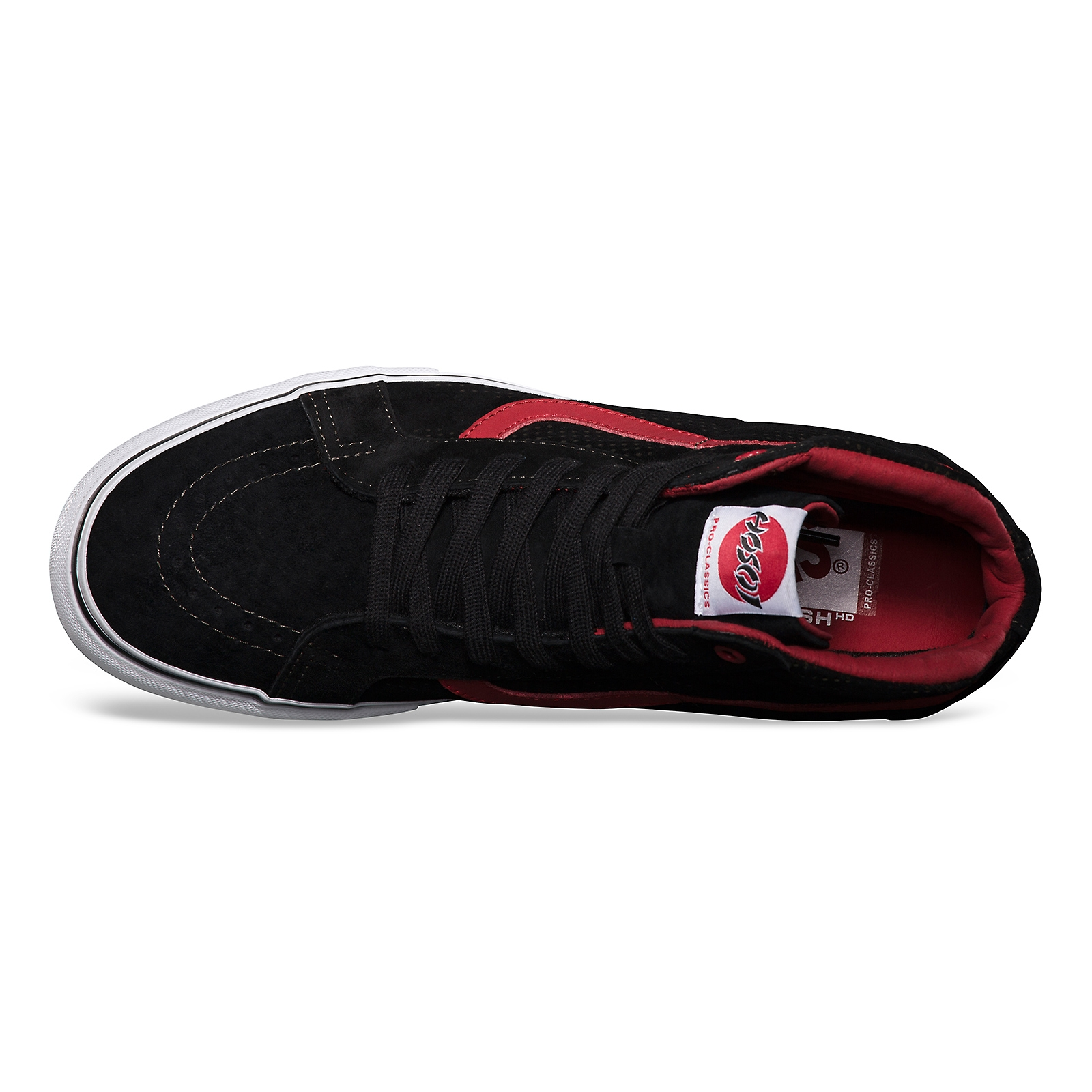005de5d5c1969a Vans Sk8-Hi Notchback Pro hosoi black white red