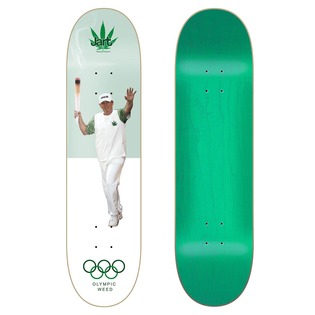 Skate decks Jart Weed Nation olympic weed 8.25   Snowboard ...
