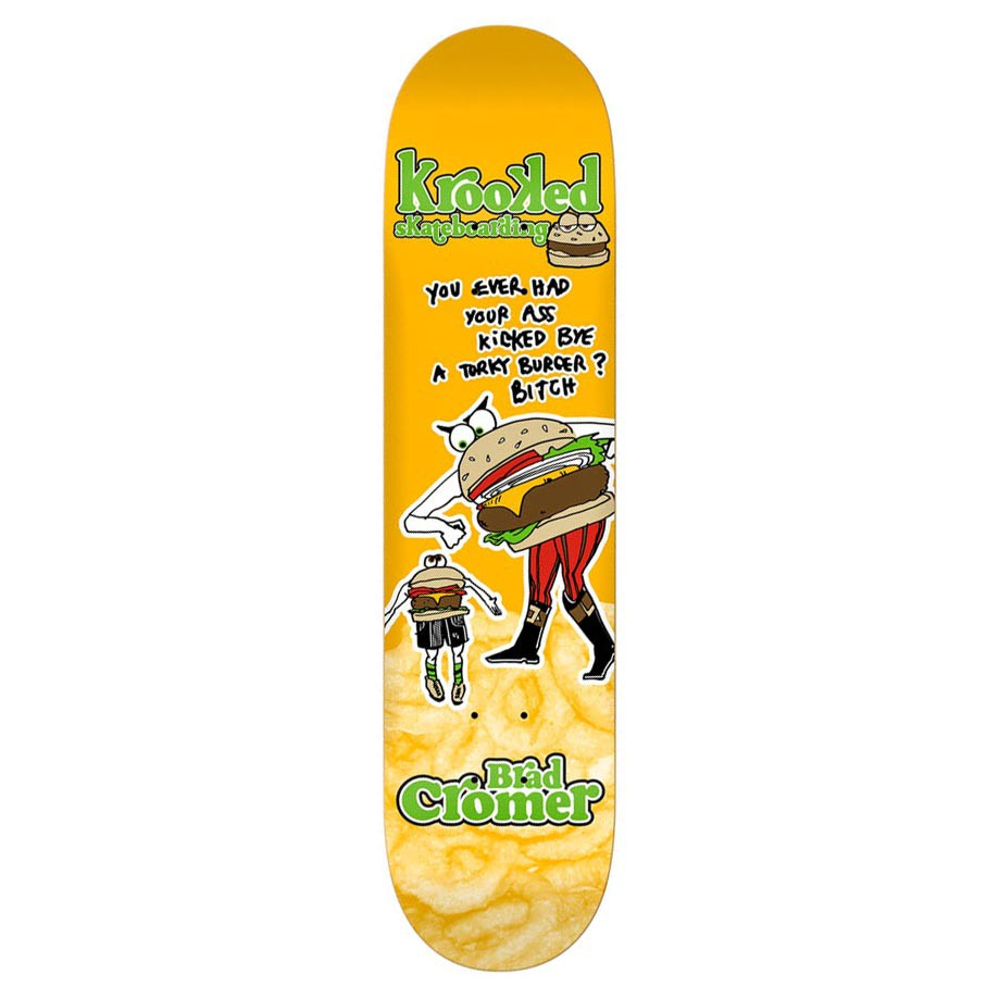Skate deska Krooked Cromer Burger Gang 8.06