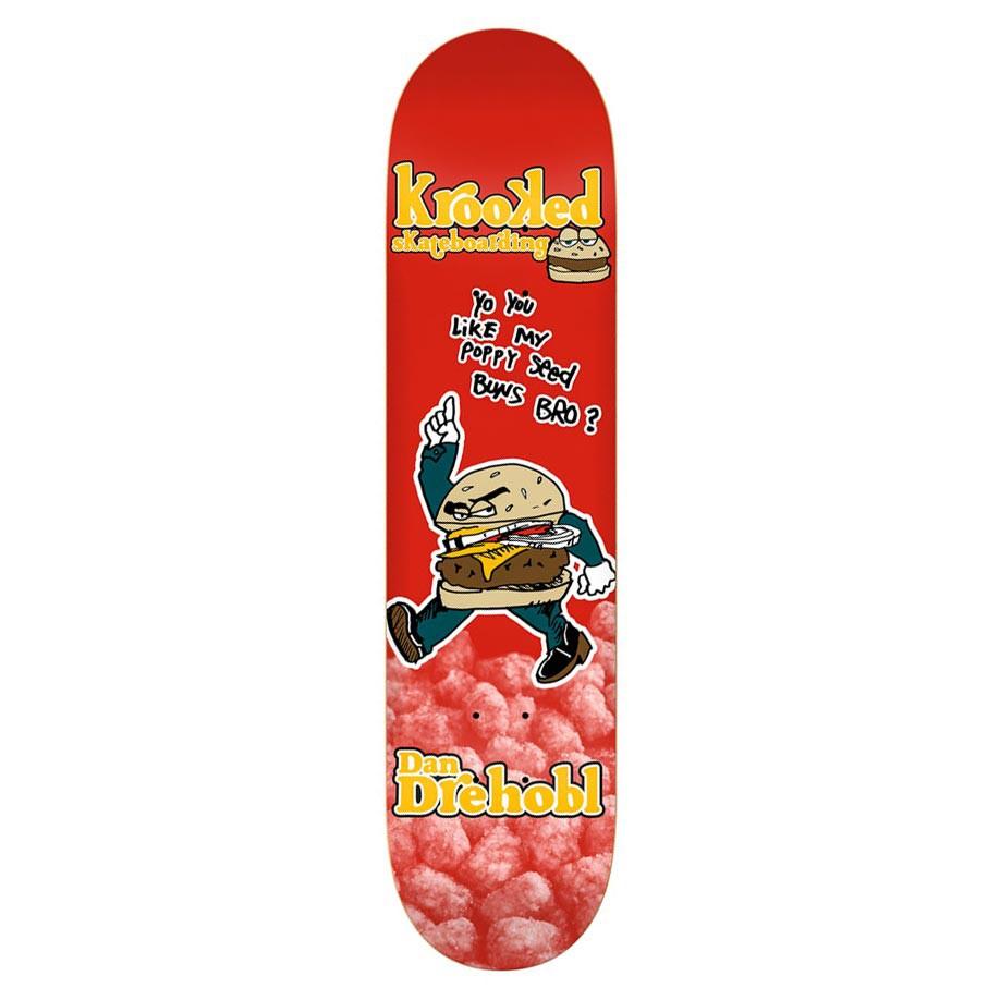 Skate deska Krooked Drehobl Burger Gang 8.5