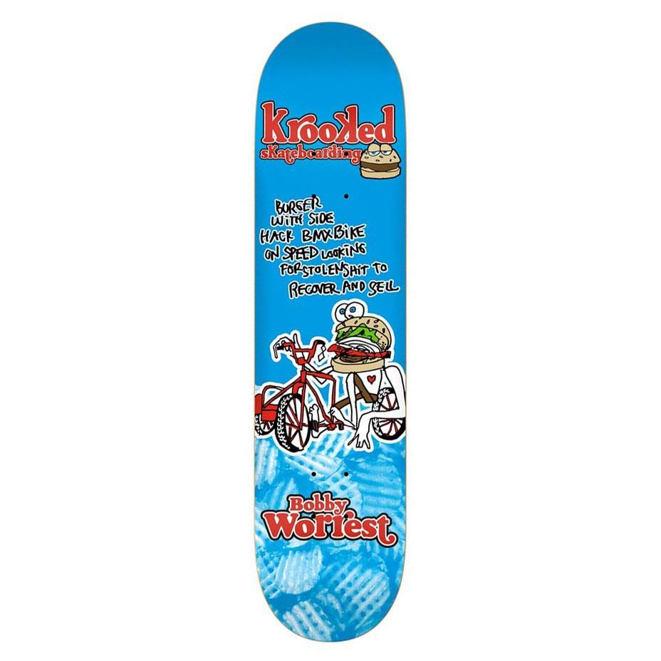 Skate deska Krooked Worrest Burger Gang 8.12