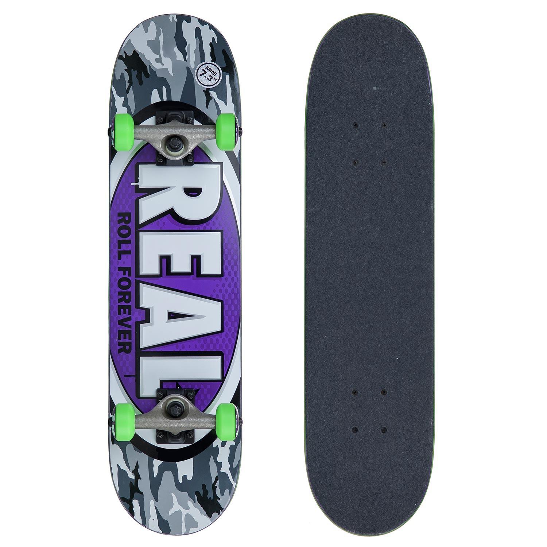 Skateboard Real Awol Oval Mini 7.3 vio/gry