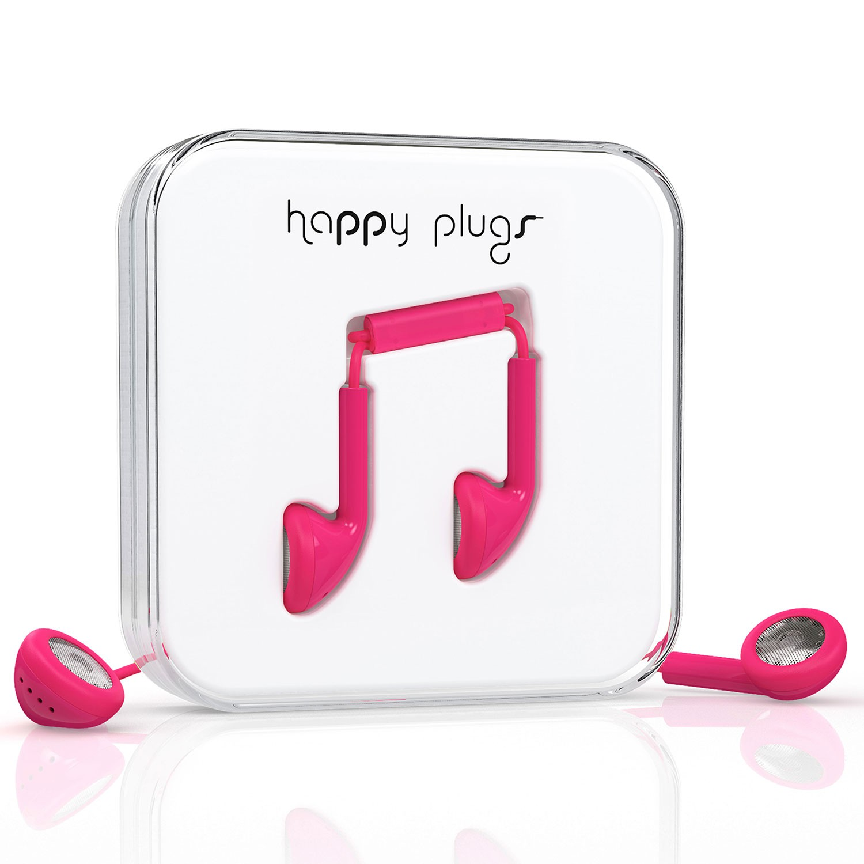 Sluchátka Happy Plugs Earbud cerise