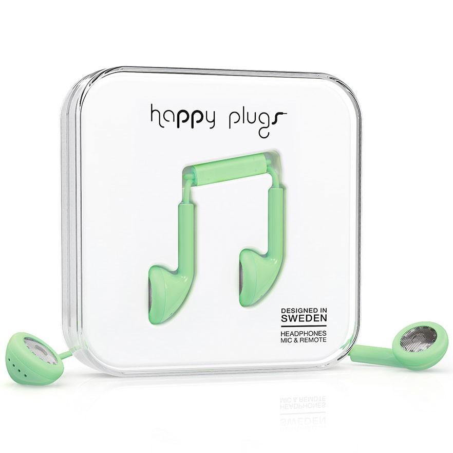 Sluchátka Happy Plugs Earbud mint