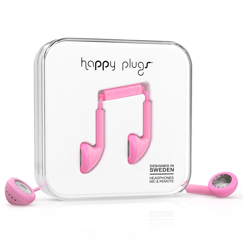 Sluchátka Happy Plugs Earbud pink