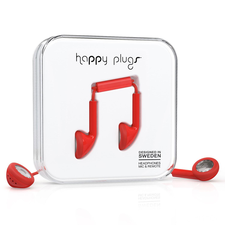 Sluchátka Happy Plugs Earbud red