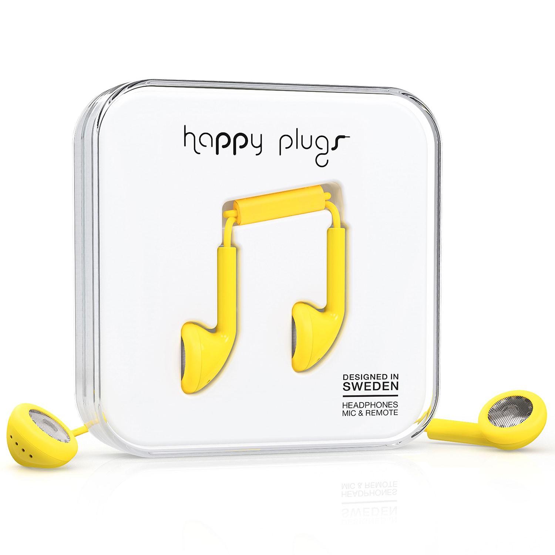 Sluchátka Happy Plugs Earbud yellow