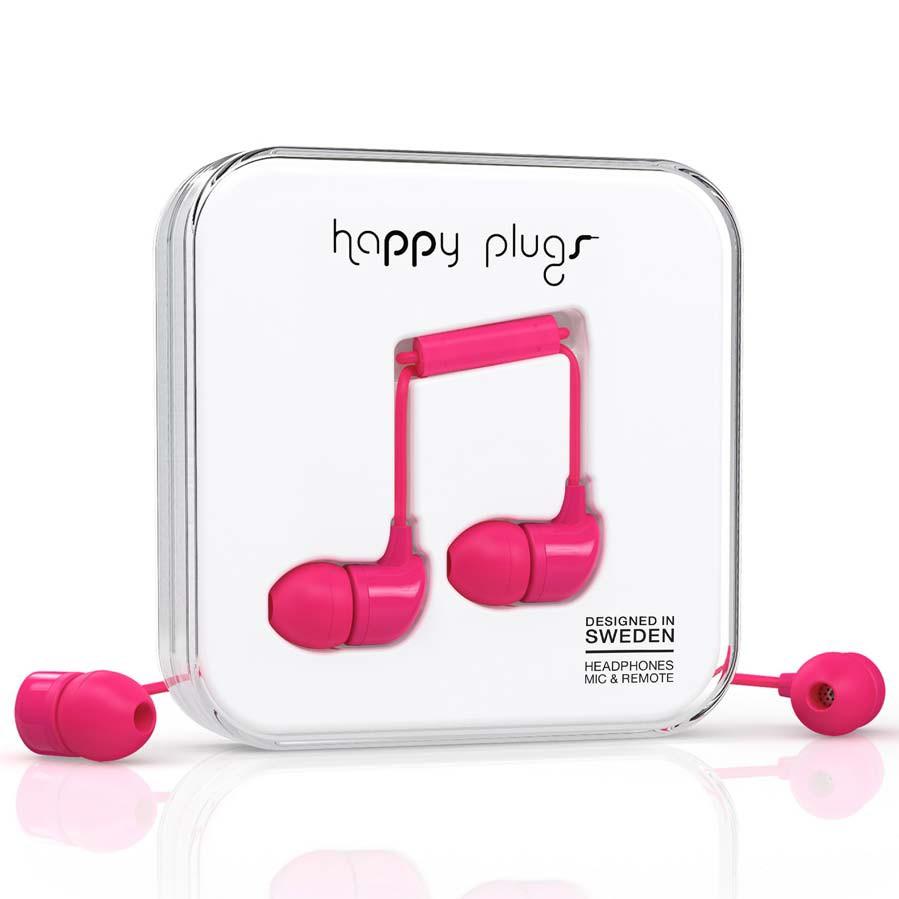 Sluchátka Happy Plugs In-Ear cerise