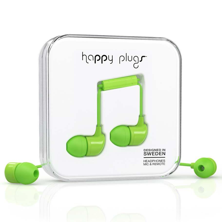 Sluchátka Happy Plugs In-Ear green