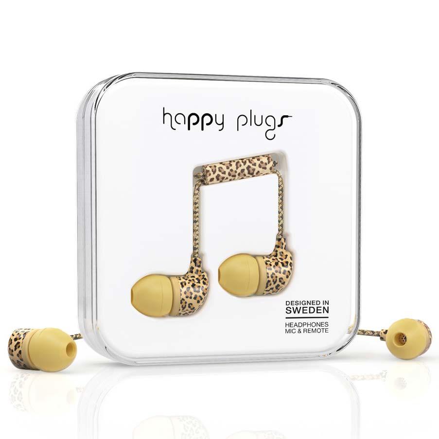 Sluchátka Happy Plugs In-Ear leopard