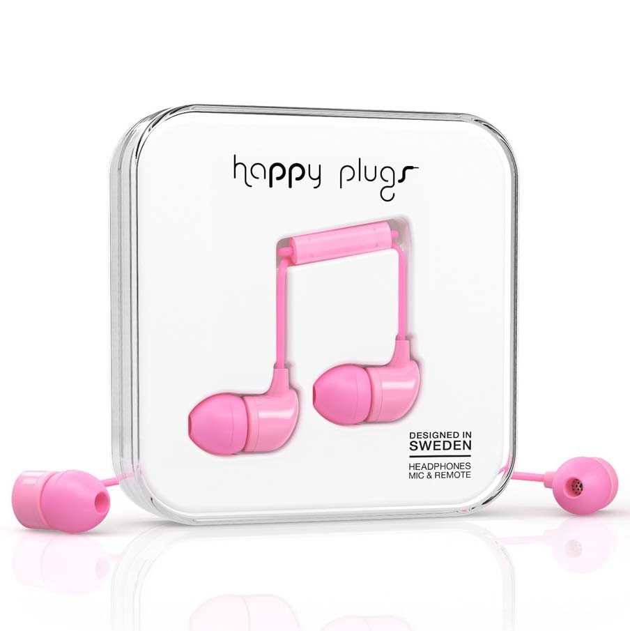 Sluchátka Happy Plugs In-Ear pink