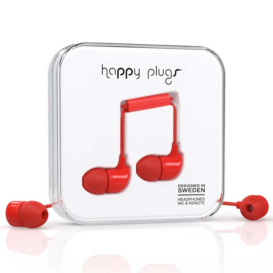 Sluchátka Happy Plugs In-Ear red