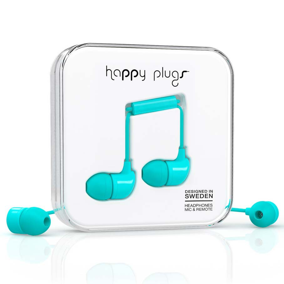 Sluchátka Happy Plugs In-Ear turquoise