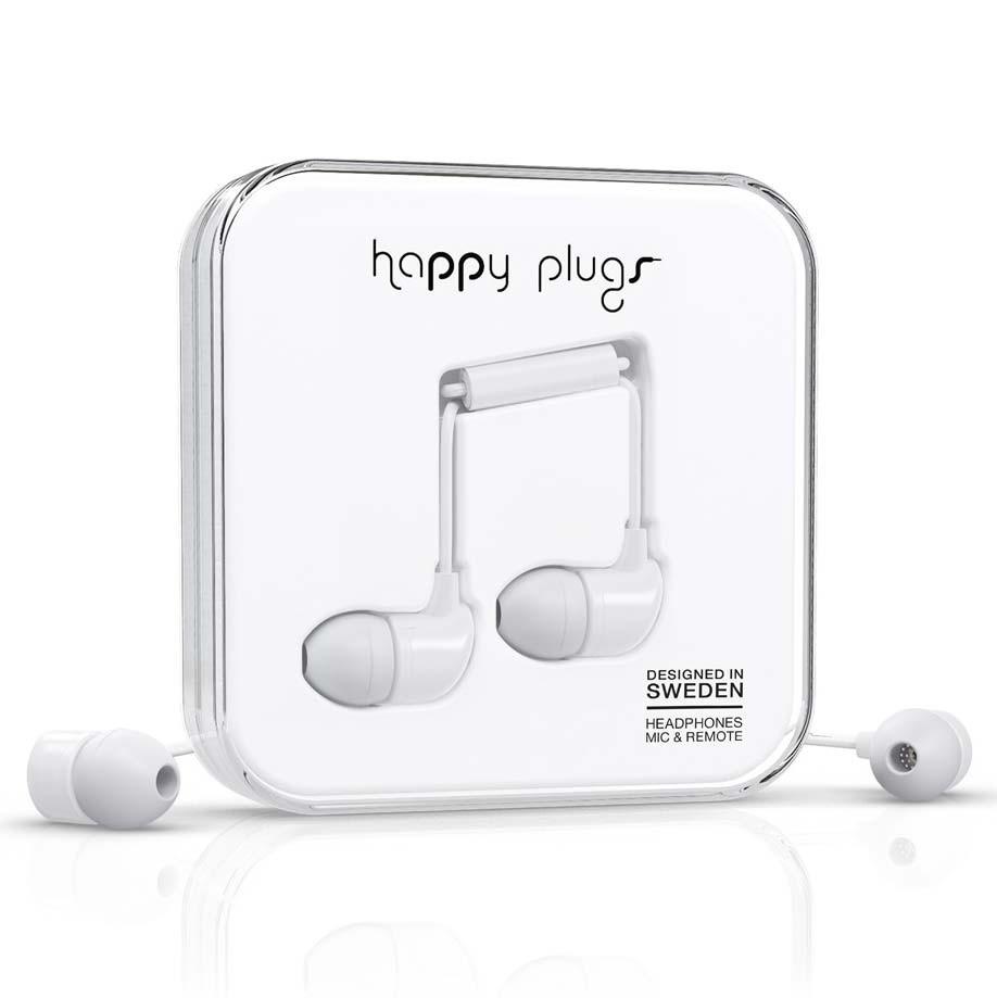 Sluchátka Happy Plugs In-Ear white