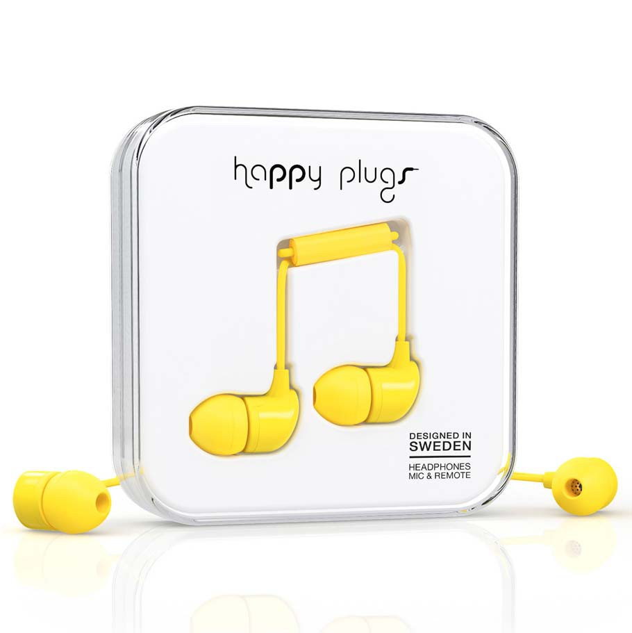 Sluchátka Happy Plugs In-Ear yellow