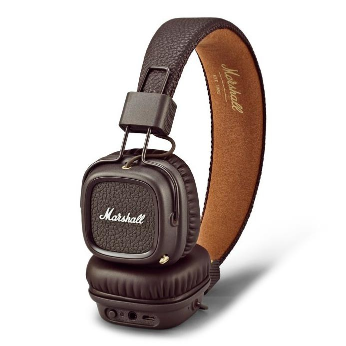 Sluchátka Marshall Major II Bluetooth brown