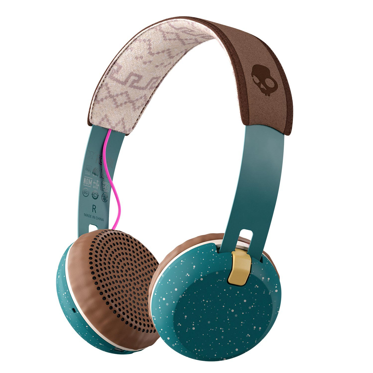 Sluchátka Skullcandy Grind Wireless blue/brown