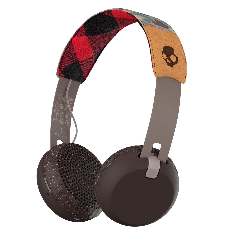 Sluchátka Skullcandy Grind Wireless grey/plaid 16/17 + doručení do 24 hodin
