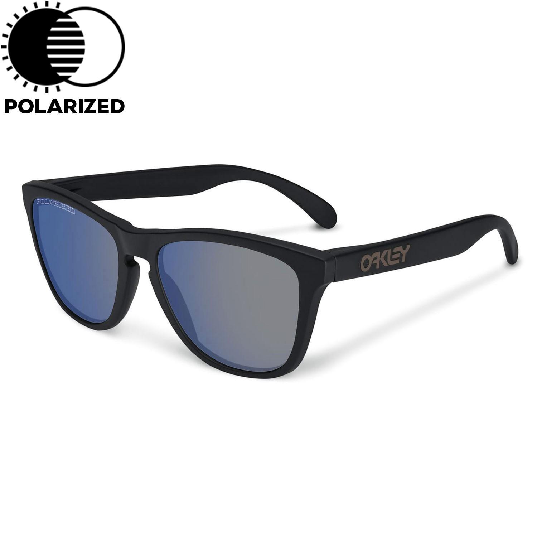 Sluneční brýle Oakley Frogskins matte black vel.ICE IRIDIUM POLARIZED 16 + doručení do 24 hodin