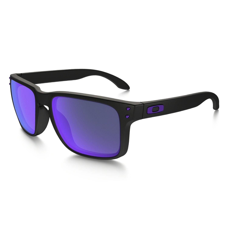 Sluneční brýle Oakley Holbrook Julian Wilson matte black vel.VIOLET IRIDIUM 16 + doručení do 24 hodin