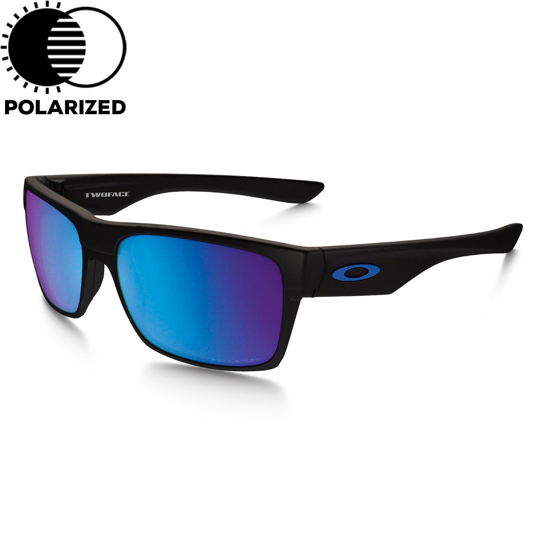 Sluneční brýle Oakley Two Face Xl matte black vel.SAPPHIRE IRIDIUM POLARIZED 16 + doručení do 24 hodin