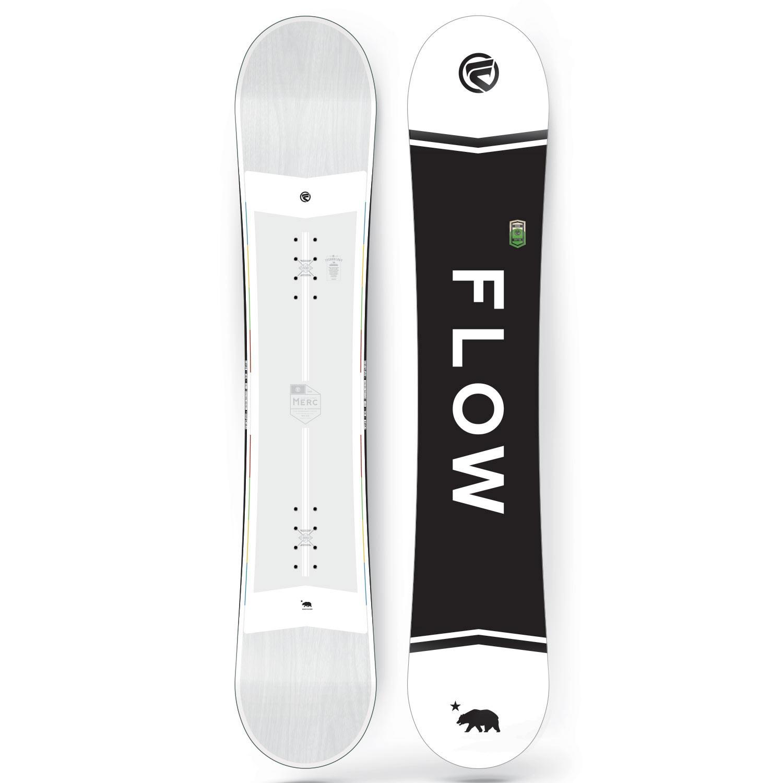 Snowboard Flow Merc white
