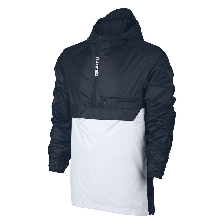 Street bunda Nike SB Packable Anorak obsidian/white