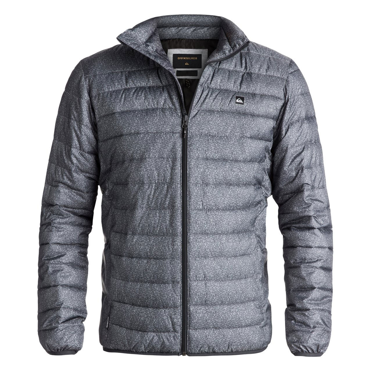 Street bunda Quiksilver Scaly Full Zip dark grey heather scaly