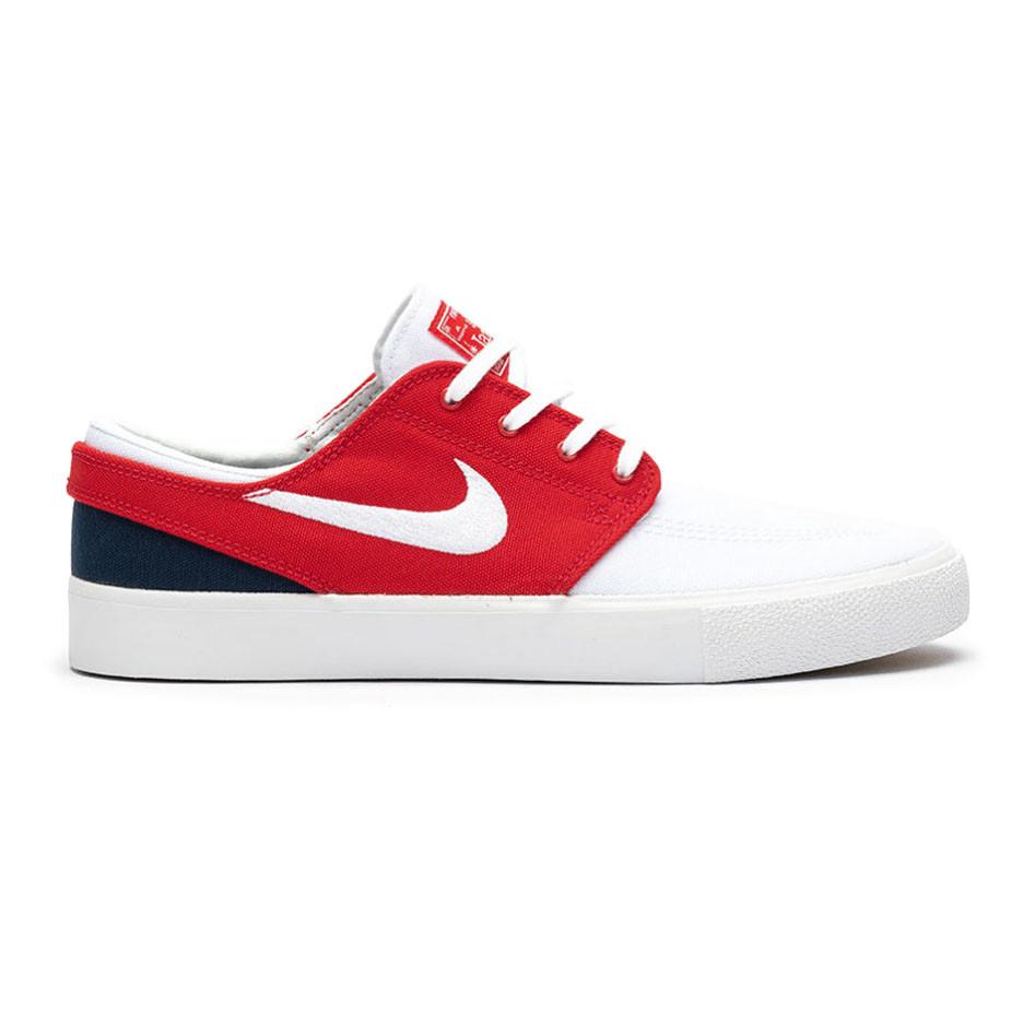 Eso Interrupción Soleado  Skate shoes Nike SB Zoom Stefan Janoski Canvas RM white/white-unvrsty red |  Snowboard Zezula